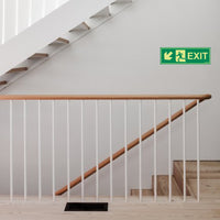 Glow In The Dark Emergency Exit Sign Left Down Arrow(300 x 100)