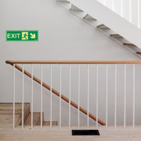 Glow In The Dark Emergency Exit Sign Right Bottom Arrow(300 x 100)