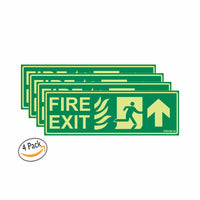 Glow in The Dark Emergency Exit Sign up Arrow
