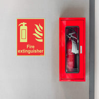 Glow In the Dark Fire Extinguisher Equipment Sign Board for Walls and Doors