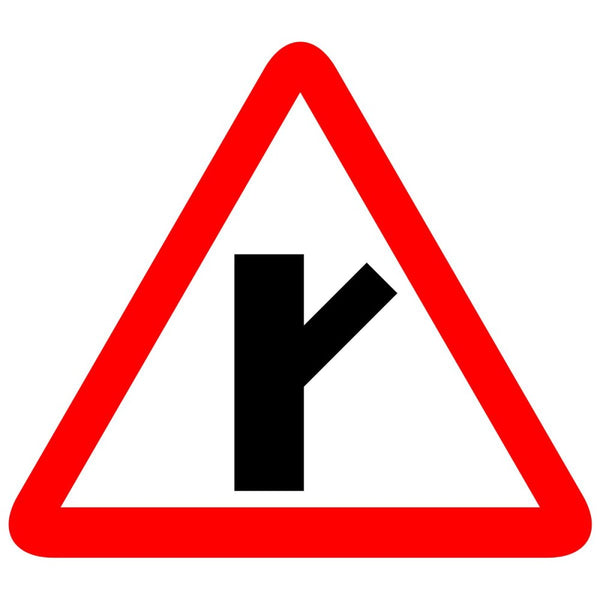 Reflective Y Intersection-RHS Traffic Cautionary Warning Sign Board
