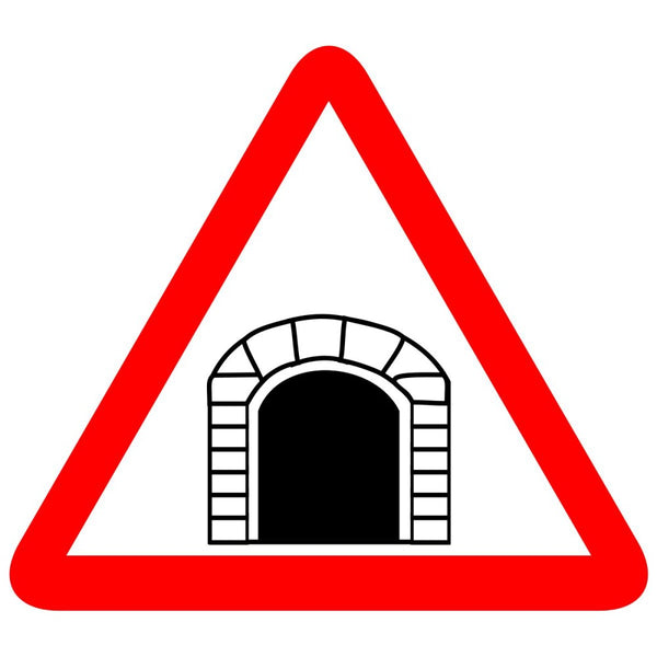 Reflective Tunnel Ahead Cautionary Warning Sign Board