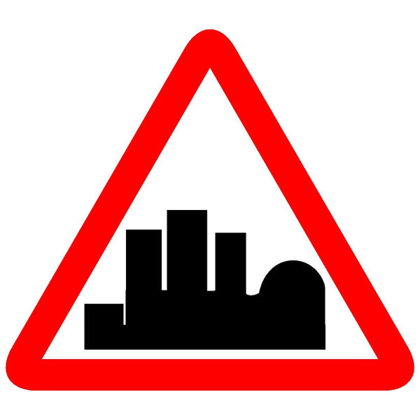 Reflective Built Up Area Traffic Cautionary Warning Sign Board