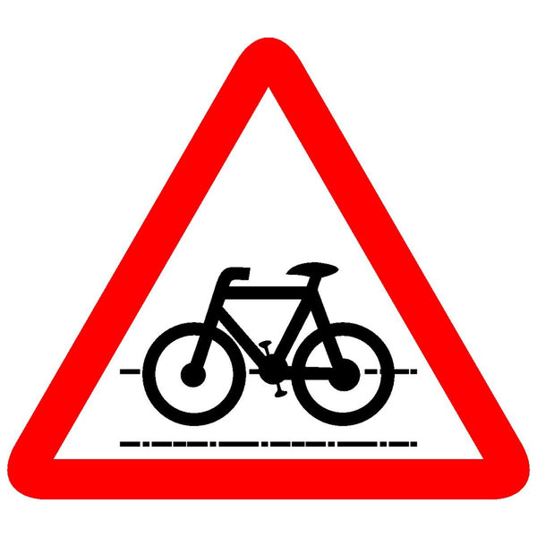Reflective Cycle Crossing Traffic Cautionary Warning Sign Board