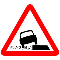 Reflective Dangerous Ditch Traffic Cautionary Warning Sign Board