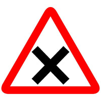 Reflective Cross Roads Traffic Cautionary Warning Sign Board