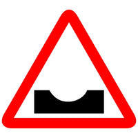 Reflective Dangerous Dip Traffic Cautionary Warning Sign Board