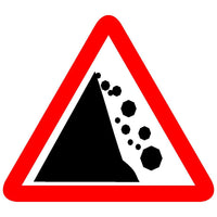 Reflective Falling Rocks Traffic Cautionary Warning Sign Board
