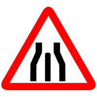 Reflective End of Dual Carriageway Traffic Cautionary Warning Sign Board