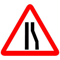 Reflective Reducted Carriageway Right Lane (S) Cautionary Warning Sign Board