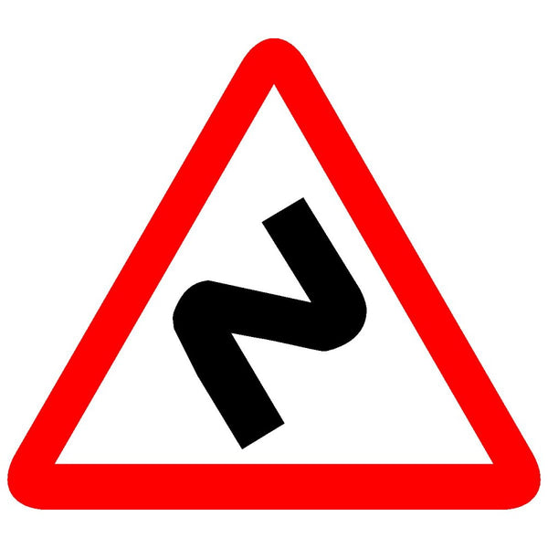 Reflective Series Of Bends Cautionary Warning Sign Board