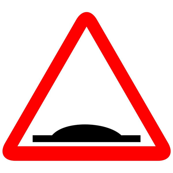 Reflective Speed Breaker ,  Bump Ahead Traffic Cautionary Warning Sign Board