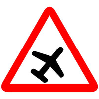 Reflective Runway, Airport Cautionary Warning Sign Board