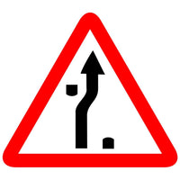 Reflective Traffic Diversion On Dual Carriageway Cautionary Warning Sign Board