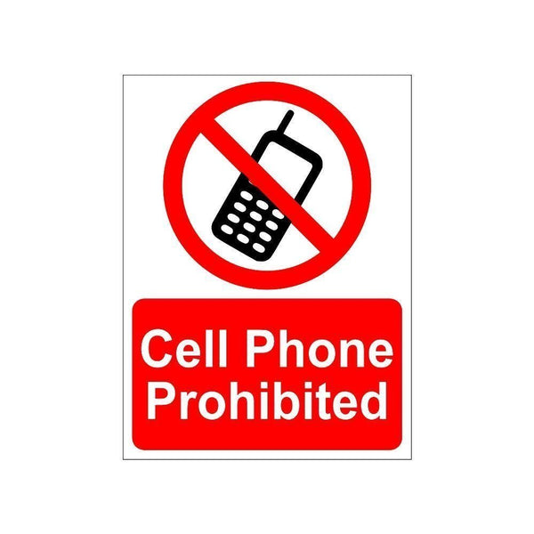 Cell Phone Prohibited Sign board For Walls And Doors
