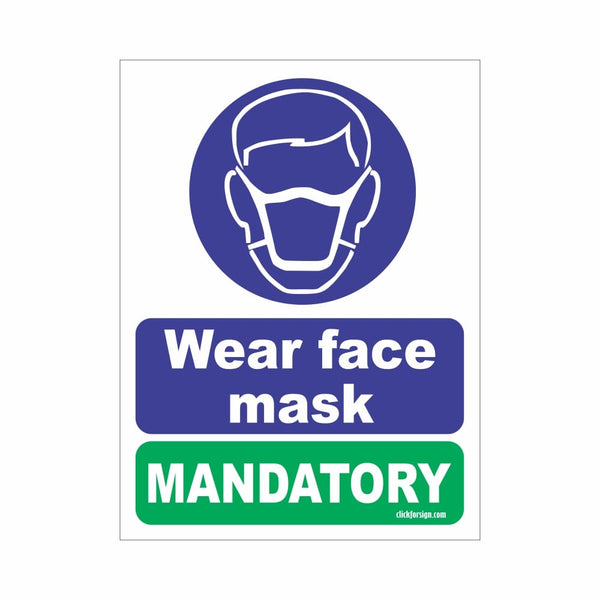 COVID Special Mandatory Face Mask Signboard
