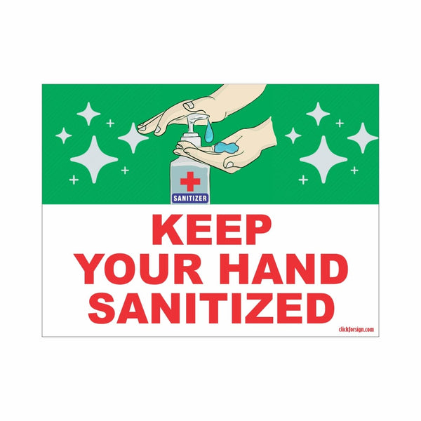 COVID Special Keep Your Hand Sanitized Signboard