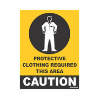 COVID Special Protective Clothing Required Area Caution Signboard