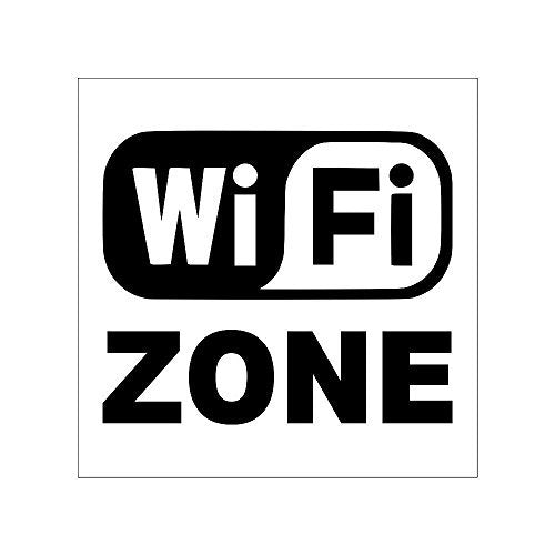 Wifi Zone Sign Board For Walls And Doors(200 x 200 mm)