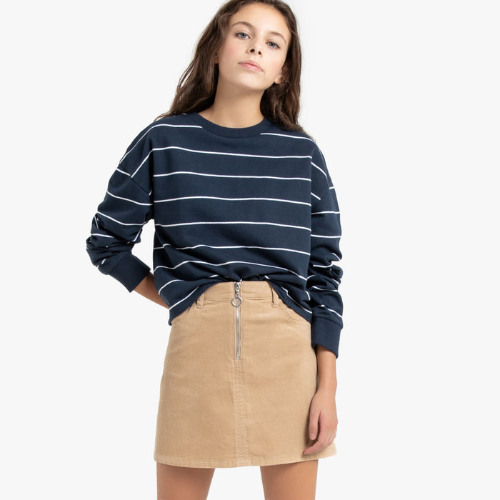 Striped Cotton Mix Cropped jopica, 10-16 let