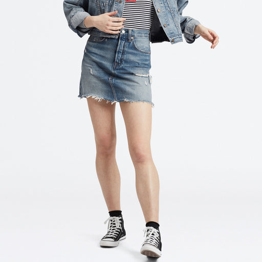 Denim mini stisnjeno krilo