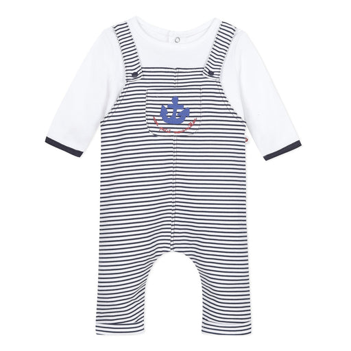 Striped Cotton All-in-One, 3 mesece-18 mesecev