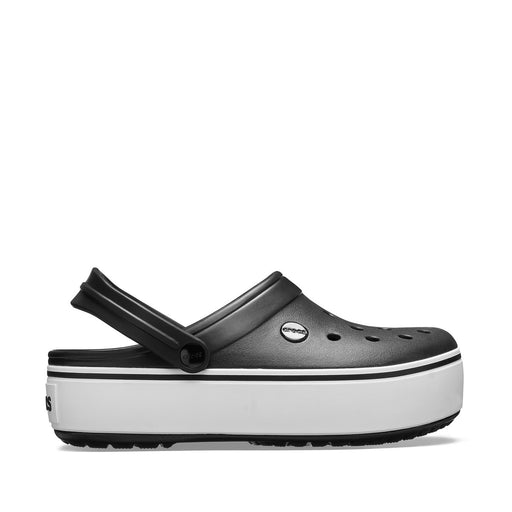 Natikači CROCBAND PLATFORM CLOG BLACK/WHITE