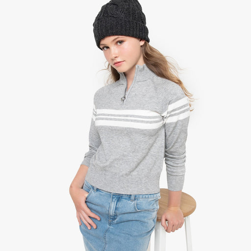 Striped Jumper / Pulover z zadrgo na visokih vratu, 10-16 let
