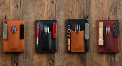 EDC Fieldbook | Leather Journal Cover and Pen Caddy for Every Day Carry