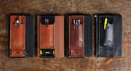 Pen Caddy | Leather Pen Wallet for your Notebook