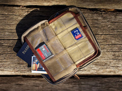 Explorer Wallet | Waxed Canvas and Leather Travelers Wallet