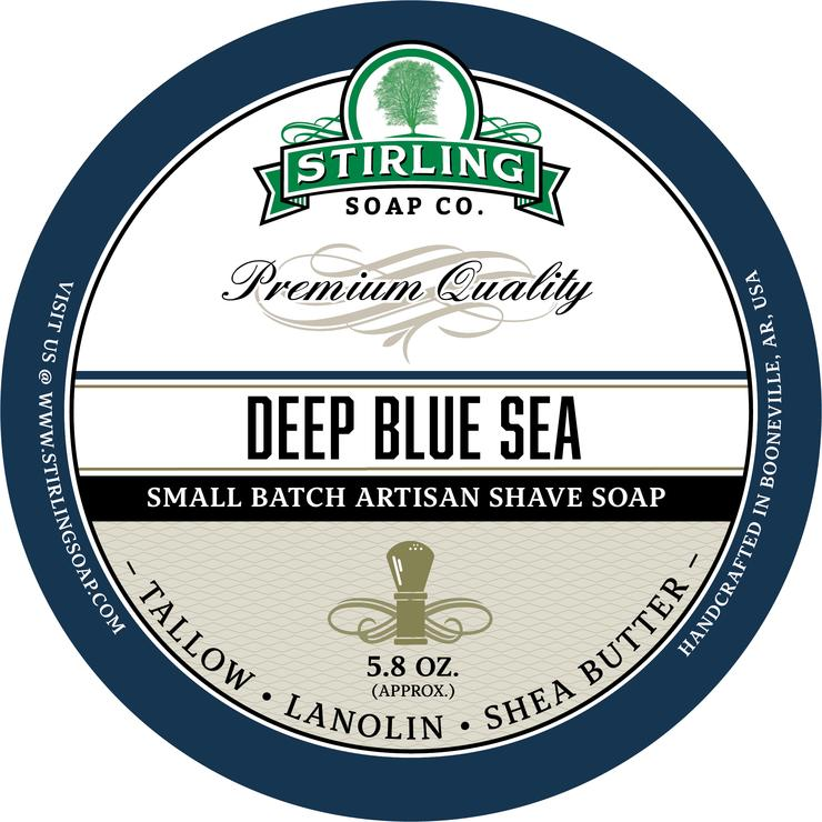 Stirling - Jabón de Afeitar de Primera - Deep Blue Sea