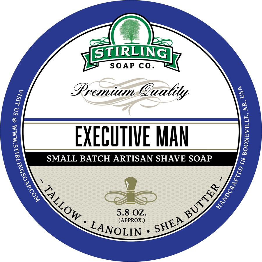 Stirling - Jabón de Afeitar de Primera - Executive Man