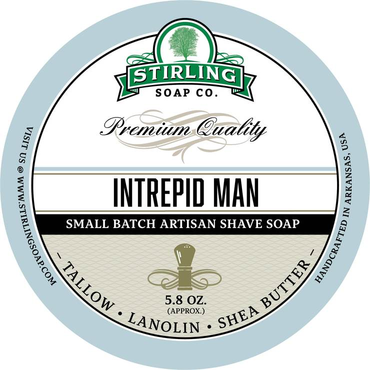 Stirling - Jabón de Afeitar de Primera - Intrepid Man
