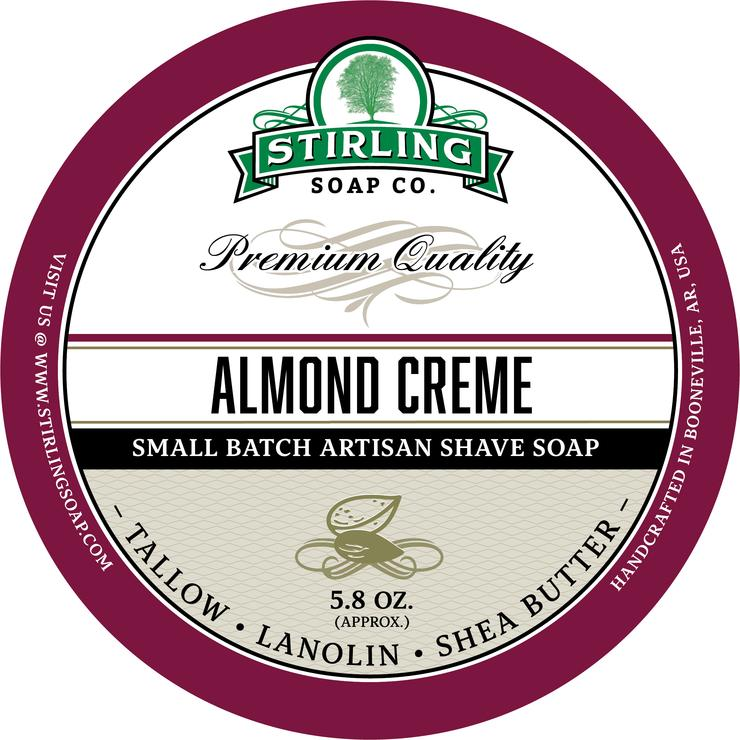 Stirling - Jabón de Afeitar de Primera - Almond Cream