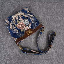 Load image into Gallery viewer, Carpet Crossbody Bag<br>Floral Blue