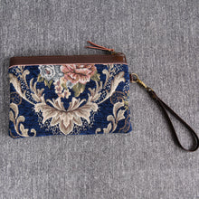 Load image into Gallery viewer, Carpet Clutch & Wristlet<br>Floral Blue