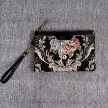 Load image into Gallery viewer, Carpet Makeup Bag<br>Floral Black