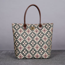 Load image into Gallery viewer, Carpet Tote<br>Ethnic Green