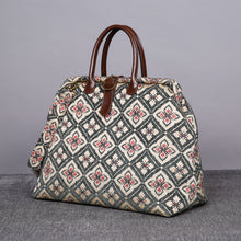 Load image into Gallery viewer, Mary Poppins Carpet Bag<br>Ethnic Green