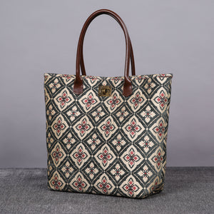 Carpet Tote<br>Ethnic Green