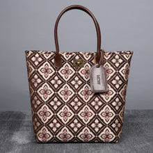Load image into Gallery viewer, Carpet Tote<br>Ethnic Coffee