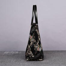 Load image into Gallery viewer, Carpet Tote<br>Floral Black