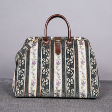 Load image into Gallery viewer, Mary Poppins Carpet Bag<br>Victorian Stripes Grass