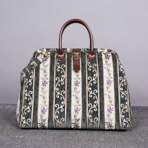 Mary Poppins Carpet Bag<br>Victorian Stripes Grass