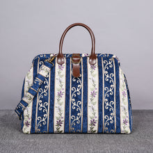 Load image into Gallery viewer, Mary Poppins Carpet Bag<br>Victorian Stripes Navy