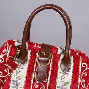 Carpet Purse<br>Victorian Stripes Red