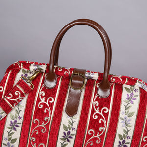Mary Poppins Carpet Bag<br>Victorian Stripes Coffee