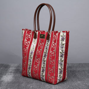 Carpet Tote<br>Victorian Stripes Red