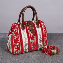 Load image into Gallery viewer, Carpet Purse<br>Victorian Stripes Red